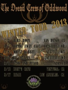 Winter Tour flyer oddwood